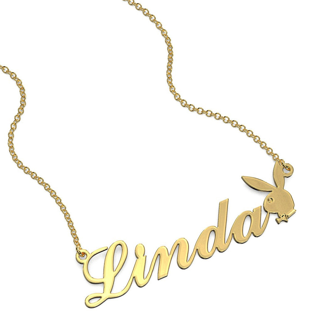 Name Necklace With Bunny Symbol