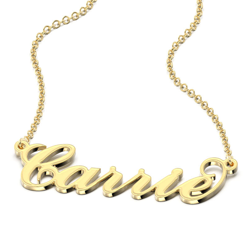 """Carrie"" Style Name Necklace"