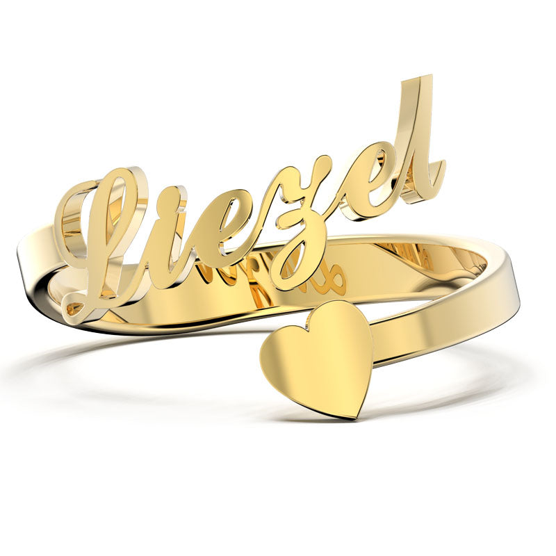 Personalized One Name Ring - Adjustable