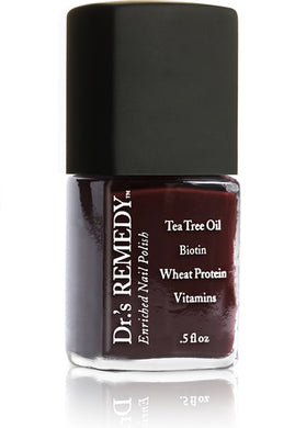 Dr.'s Remedy Enriched Nail Lacquer Defense Deep Red (15mL)