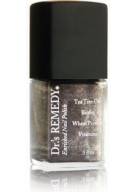 Dr.'s Remedy Enriched Nail Lacquer Magnetic Midnight Shimmer (15mL)