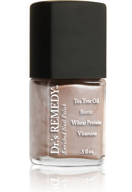 Dr.'s Remedy Enriched Nail Lacquer Poised Pink Champagne (15mL)