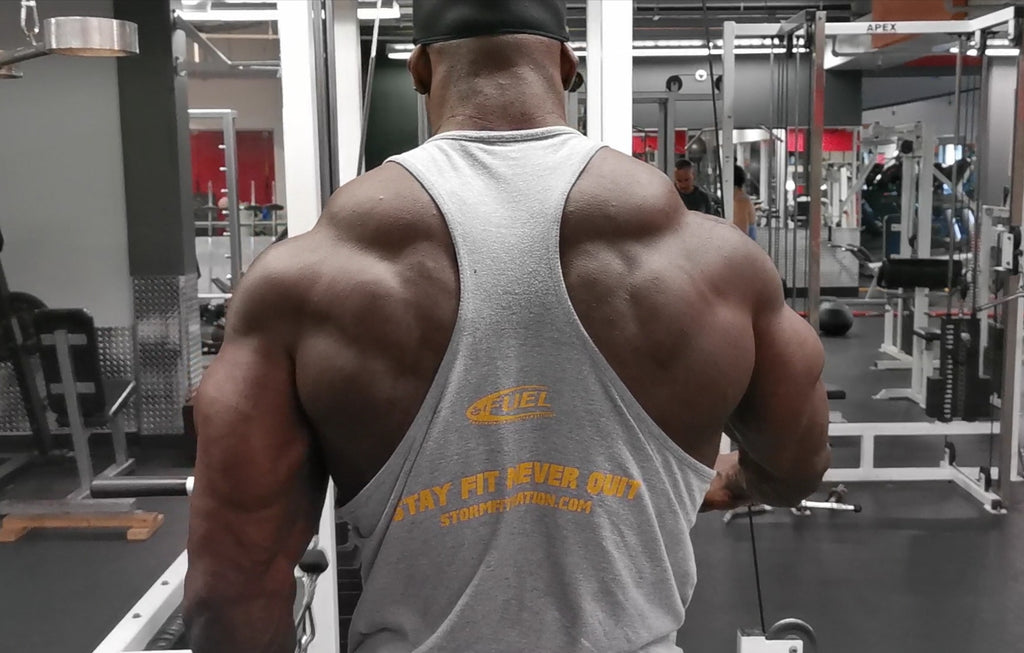 Building back muscles.