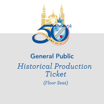 General Public: Historical Production Ticket - Floor Seat
