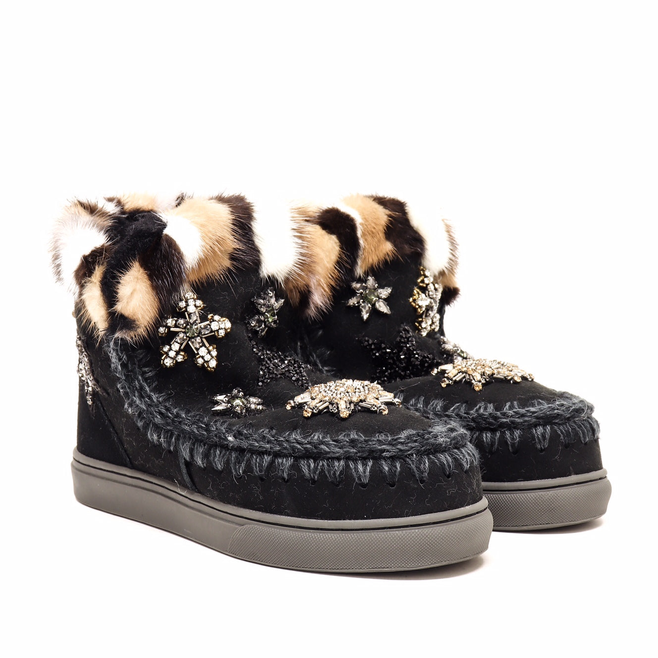 Mou Tronchetto Eskimo Sneak Star Patch Mink