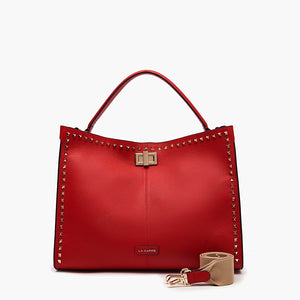 La Carrie Bag Shopper Studs Silvie Bot