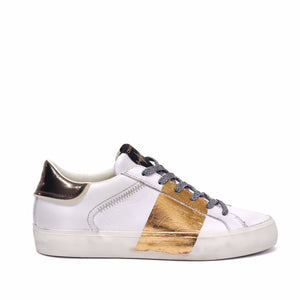 Crime London Sneaker Low Top Distressed