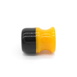 Black Butterscotch Shaving Brush Handle (fits 20mm, 22mm knots)