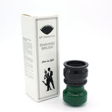 Black Green Shaving Brush Handle (fits 26mm, 28mm knots)