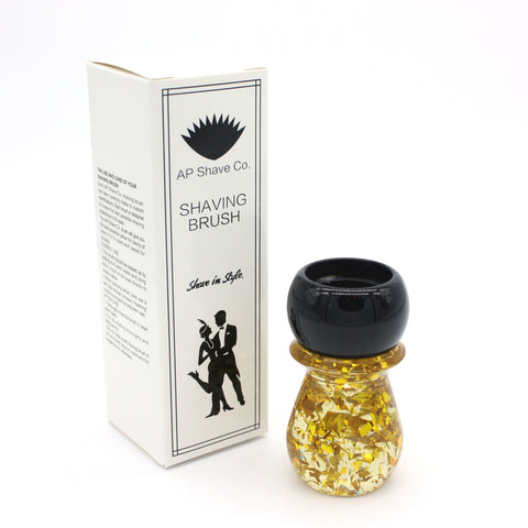 Black Gold Flake Shaving Brush Handle (fits 24mm, 26mm knots)