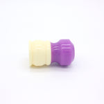 Ivory Purple Shaving Brush Handle (fits 24mm, 26mm knots)