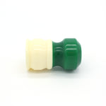 Ivory Green Shaving Brush Handle (fits 26mm, 28mm knots)