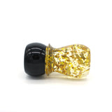 Black Gold Flake Shaving Brush Handle (fits 28mm, 30mm knots)