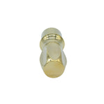AP400B Slim Brass Shaving Brush Handle (fits 20mm, 22mm knots)