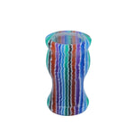 Blue Hue Stripe Handcrafted Shaving Brush Handle (fits 24mm, 26mm knots)