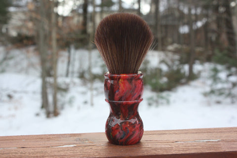 22mm Faux Horse w/ Ruby Ripple Handle