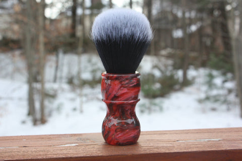 24mm Tuxedo w/ Ruby Ripple Handle