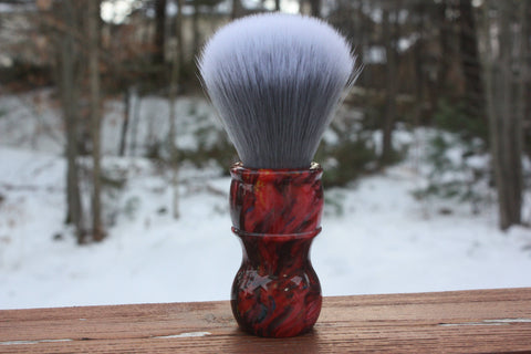 24MM SilkSmoke w/ Ruby Ripple Handle