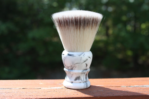 28MM FlatTop w/ Faux Marble Handle - APShaveCo.