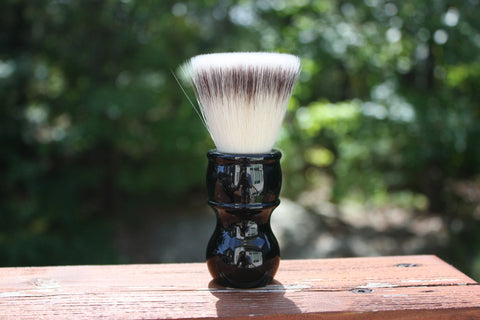 24mm FlatTop - w/ Jet Black Handle - Extra Dense Shaving Brush