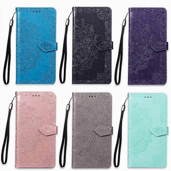 3D Mandala Flower Leather Back Cover Wallet Flip Phone Bag For HUAWEI Mate 20 / 20 Pro / 20 Lite