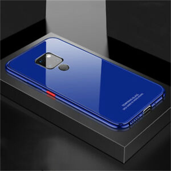 Plating Metal Bumper Case For Huawei Mate20 Pro Lite X Tempered Glass Mirror Back Cover