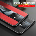 Huawei Mate 20 Pro X Luxury Porsche Design Leather Texture Cover