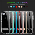 Luxury Phone Holder Case TPU Silicon Hybrid + PC Stand Case For iPhone 7/8 7/8 Plus