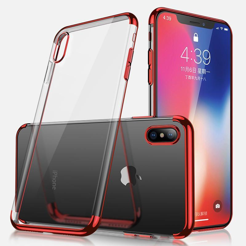 Electroplated transparent mobile phone case for iPhone XR / XS MAX