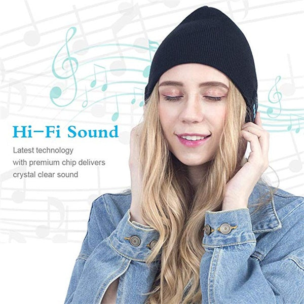 Bluetooth Beanie Hat Headphones Wireless Headset Knit Hat
