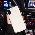 White Marble Battery Power Phone Case For iPhone 6/7/8 6/7/8 Plus X XS