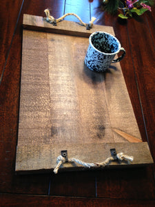 Rustic Serving Tray ~ Brown