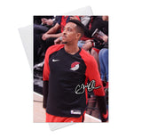 C. J. McCollum Trail Blazers 1 Greeting Card