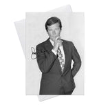 Roger Moore 007 James Bond 3 Greeting Card