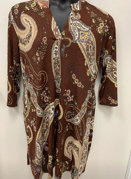 Brown Design Dress