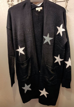 Load image into Gallery viewer, Black Star Cardigan