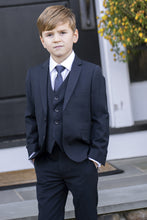 "Load image into Gallery viewer, ""Premium"" Kids Midnight Navy 5-Piece Wool Blend Suit"