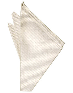 Ivory Faille Silk Pocket Square