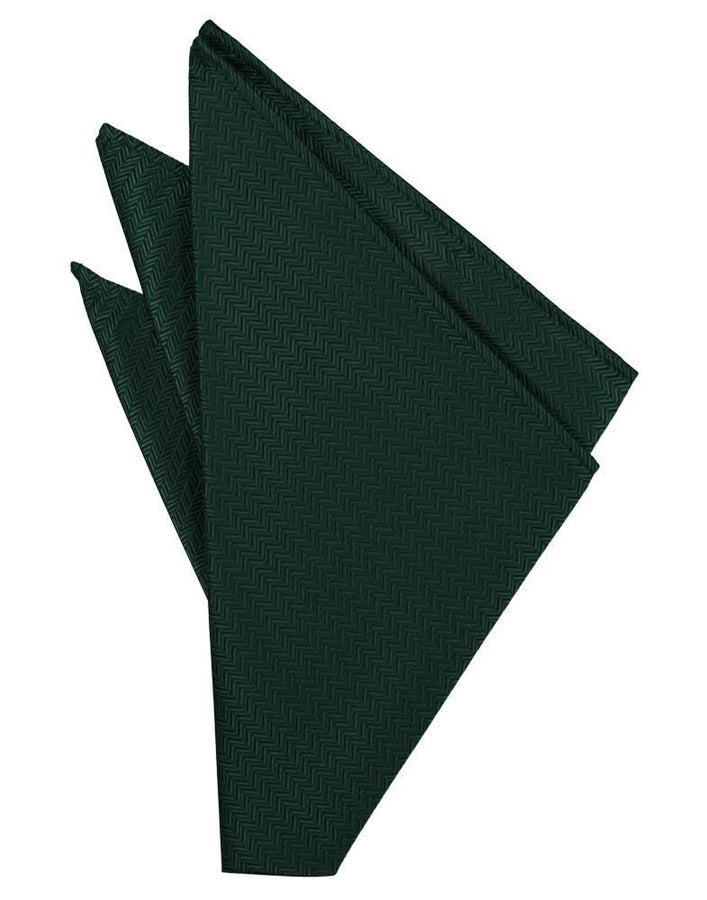 Hunter Herringbone Pocket Square
