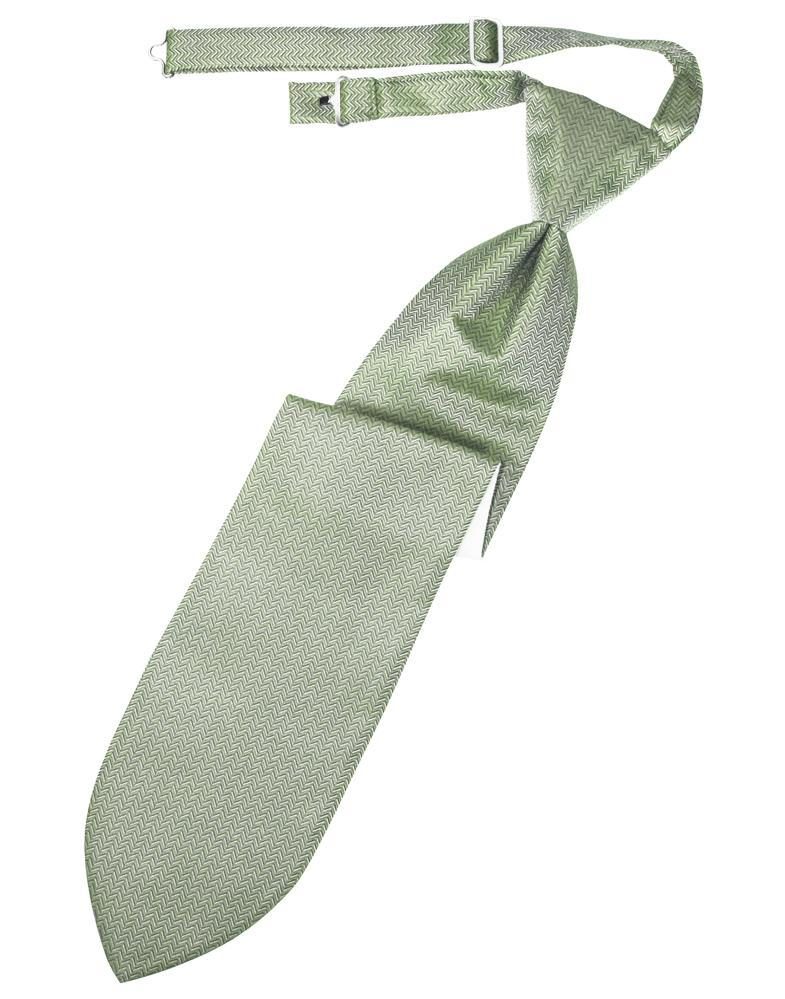 Mint Herringbone Kids Necktie