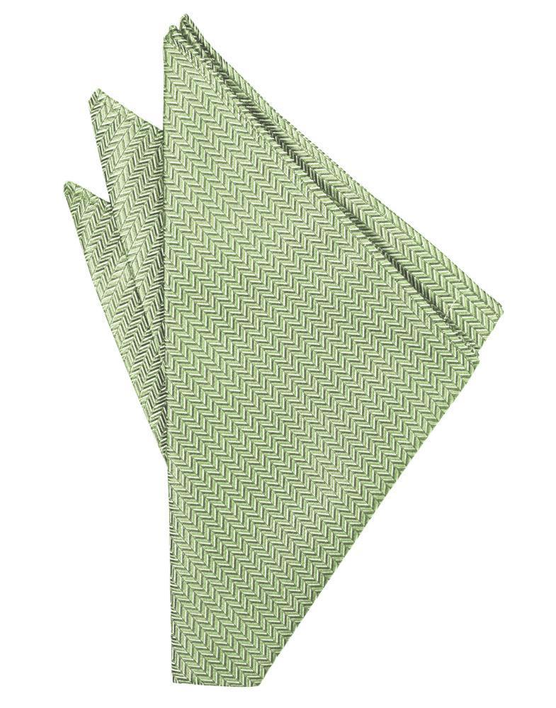 Mint Herringbone Pocket Square