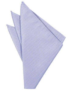Periwinkle Herringbone Pocket Square