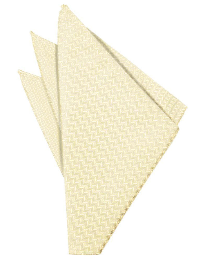 Sand Herringbone Pocket Square