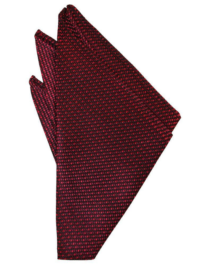 Wine Silk Weave Pocket Square