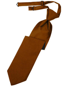 Cognac Luxury Satin Kids Necktie