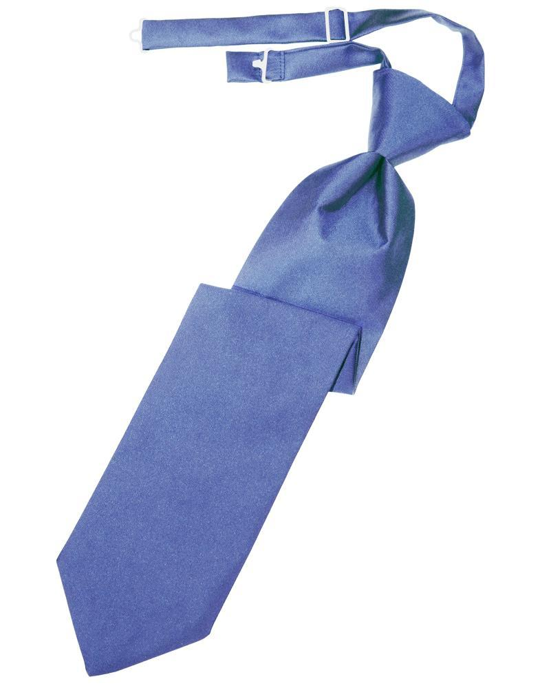 Cornflower Luxury Satin Kids Necktie