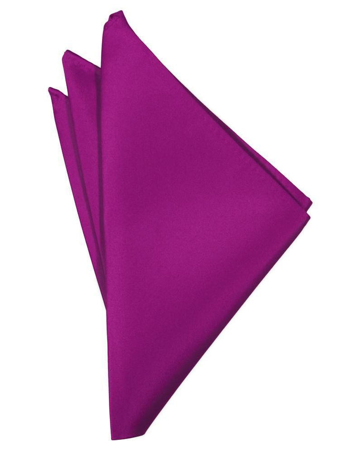 Fuchsia Luxury Satin Pocket Square