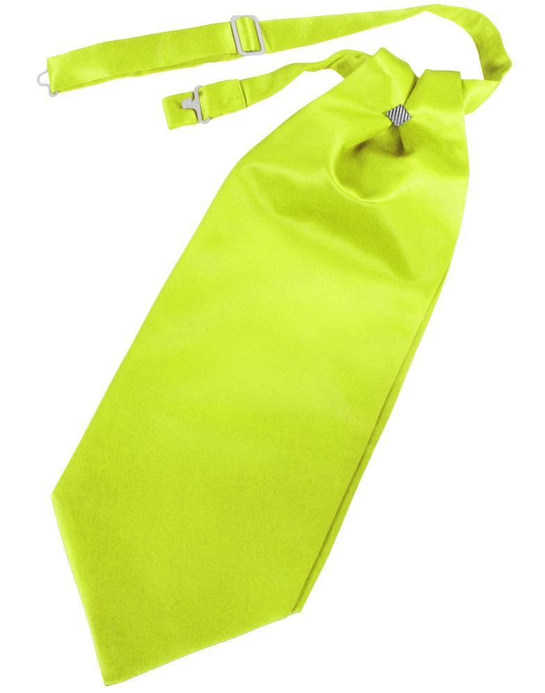 Lime Solid Satin Kids Cravat