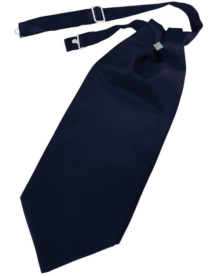 Midnight Blue Solid Satin Kids Cravat