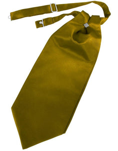 New Gold Solid Satin Kids Cravat